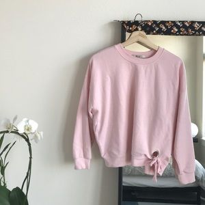 Forever 21 Pink Oversized Sweatshirt- Small